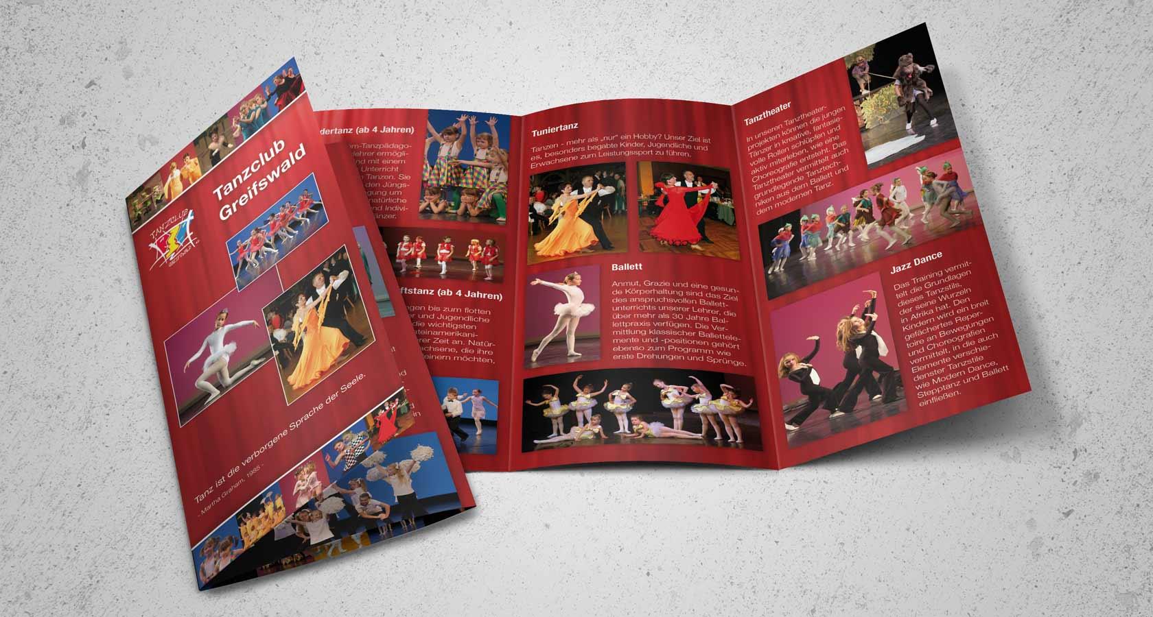 Flyer für Tanzschule