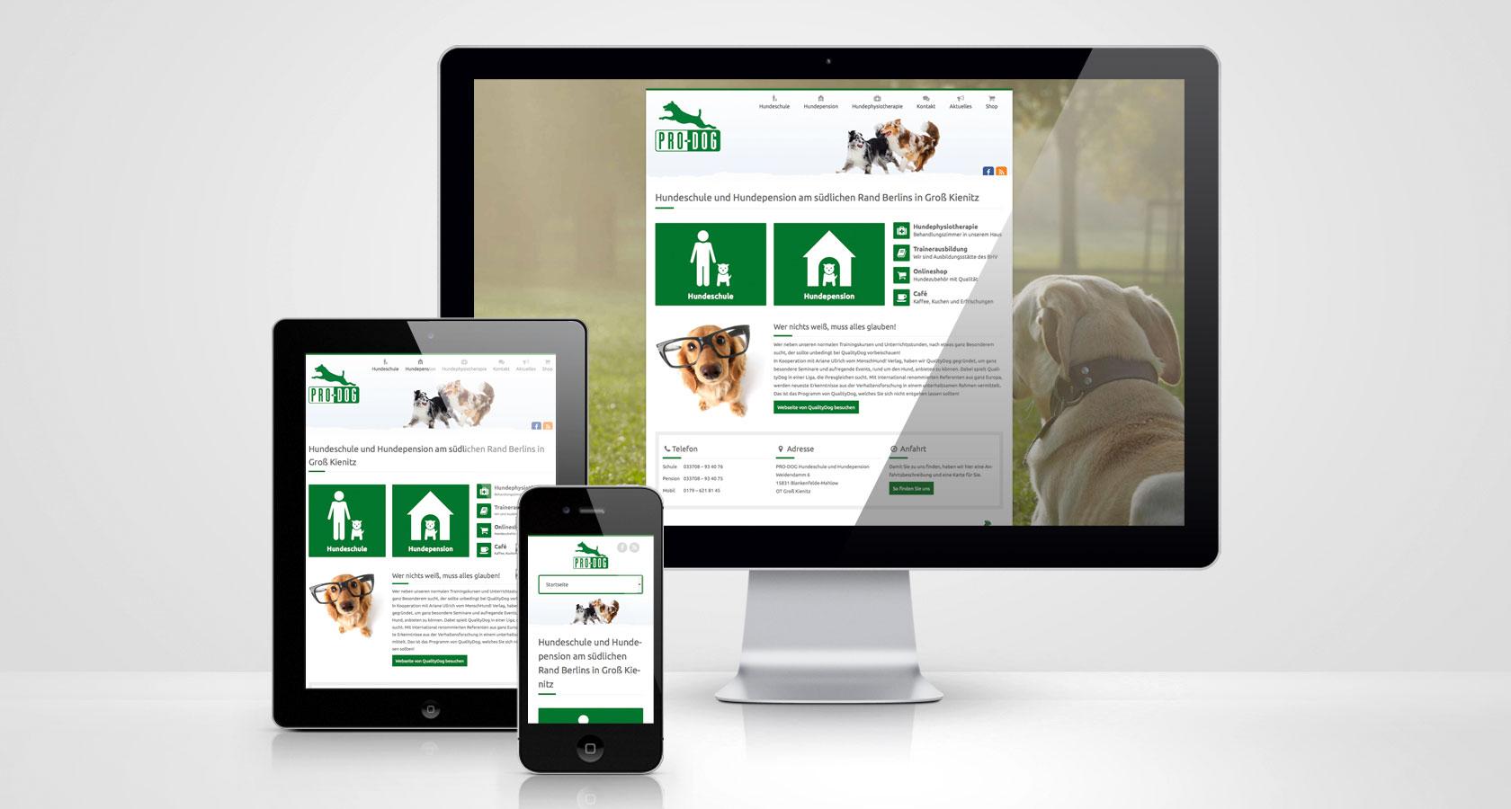 PRO-DOG Webseite Startseite