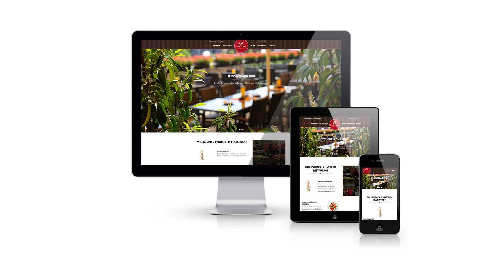 Webseite Knossos Restaurant