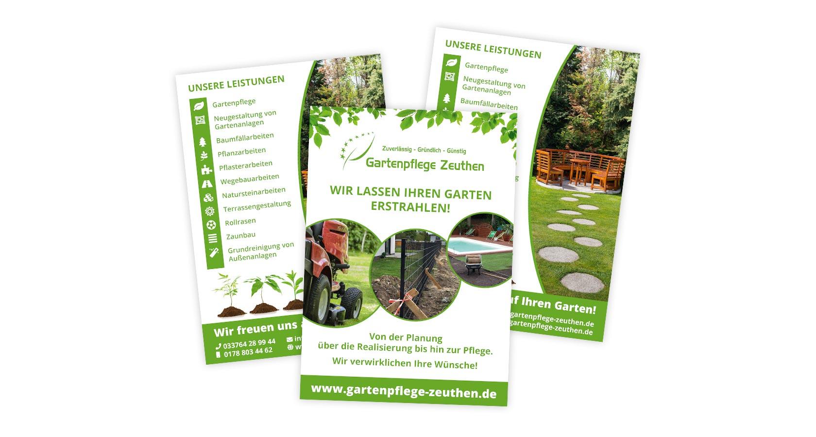 Flyer Gartenpflege Zeuthen
