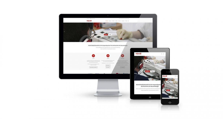 Webseite Hörniß Medizintechnik Startseite