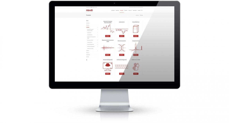Webseite Hörniß Medizintechnik Kategorieseite