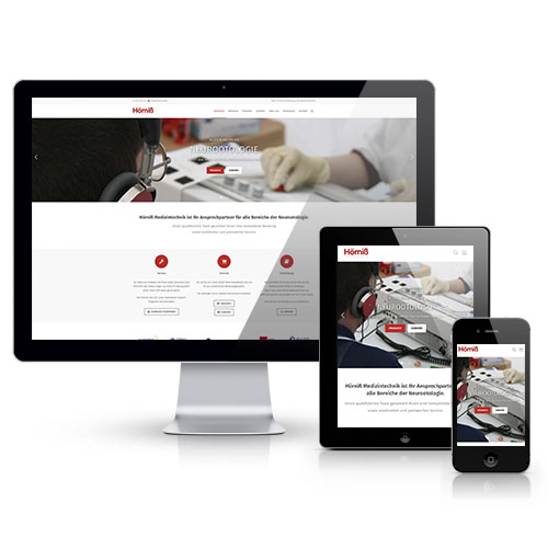 Webseite Hörniß Medizintechnik