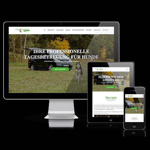 Webseite Fellnasen in Aktion